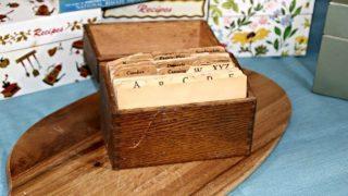 Vintage Recipe Box 1 From Morrow County, Ohio