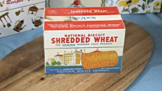 Vintage Recipe Box 6 - Shredded Wheat Tin Box