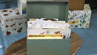 Vintage Recipe Box 8 - Green Metal Box