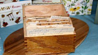 Vintage Recipe Box 12 – Wood Box