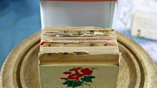 Vintage Recipe Box 14 – Red & White Tin Box