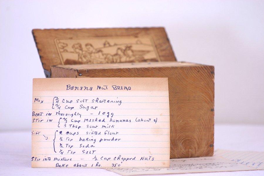 vintage recipe project