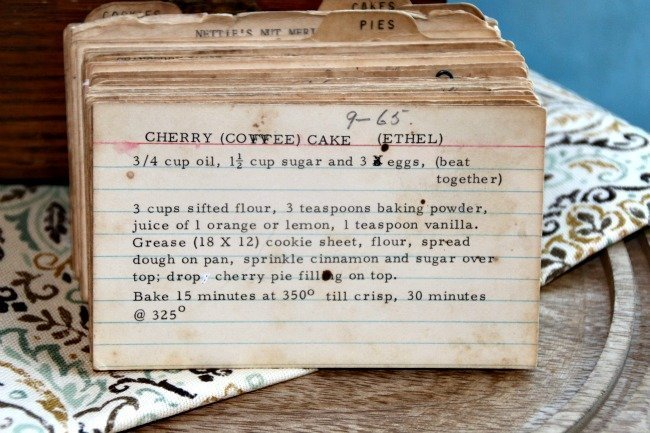 Ethel's Cherry Coffee Cake