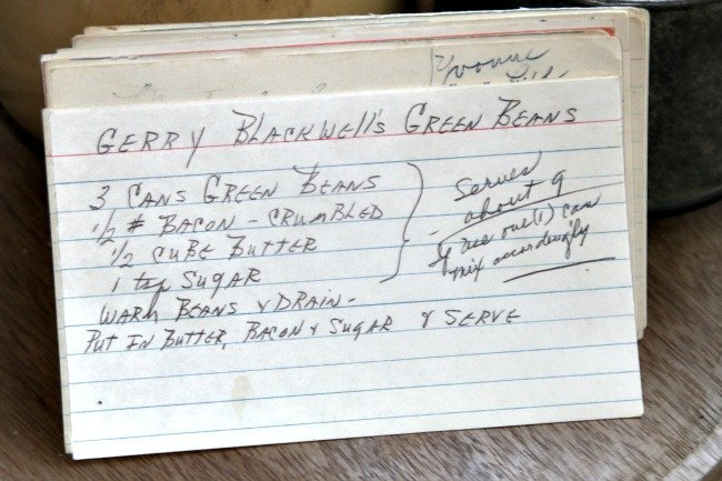 Gerry Blackwell's Green Beans