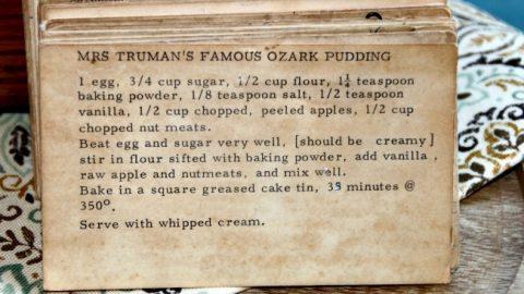 Mrs Trumans Famous Ozark Pudding