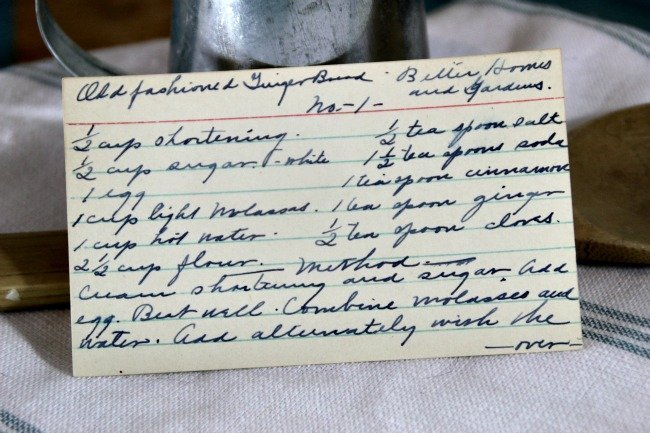Old Fashioned Gingerbread - Vintage Recipe Project