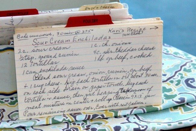Sour Cream Enchiladas
