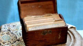 Vintage Recipe Box 17 - Brown Wood Box