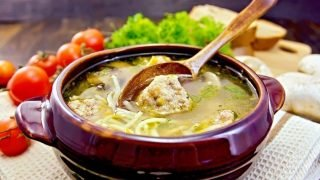 Vegetable Meatball Soup