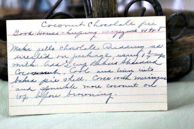Coconut Chocolate Pie - Vintage Recipe Project