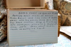 Baked Eggs in Bacon Rings