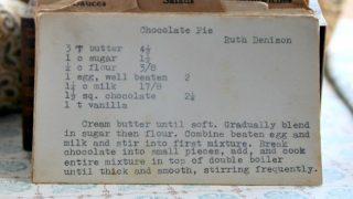 Chocolate Pie by Ruth Denison