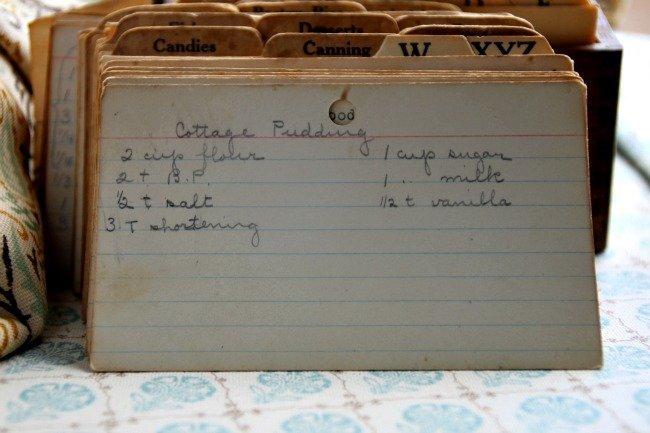 Cottage Pudding