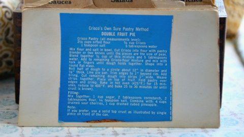 Criscos Own Sure Pastry Method Double Fruit Pie