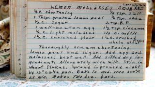 Lemon Molasses Squares