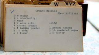 Orange Cookies by Mrs. Millikin (VRP 001)