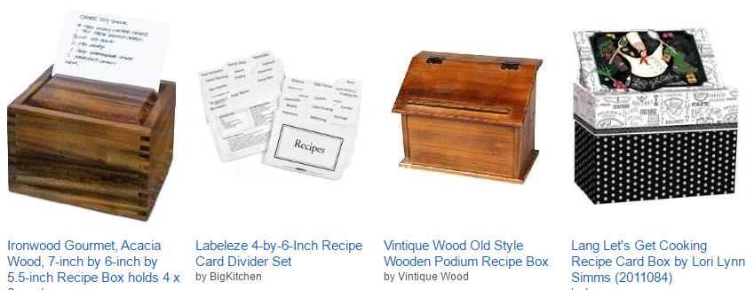 recipe box and cards