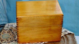 Vintage Recipe Box 16 - Gold Wood Box