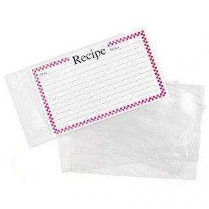 recipe card protectors 2