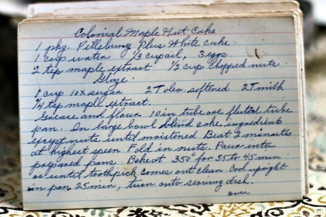 Colonial Maple Nut Cake
