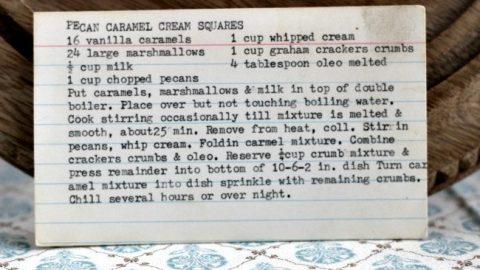 Pecan Caramel Cream Squares