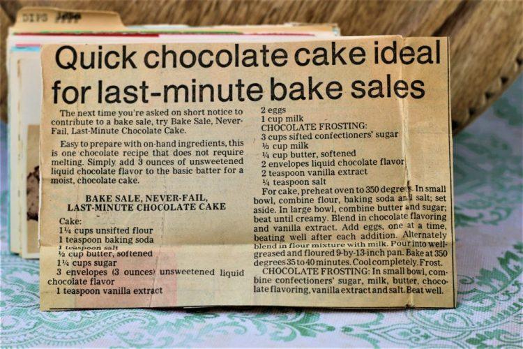 Bake Sale Never Fail Last Minute Chocolate Cake