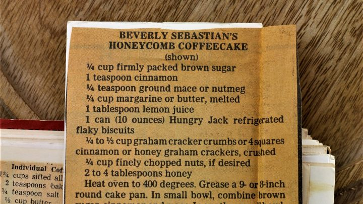 Beverly Sebastians Honeycomb Coffee Cake