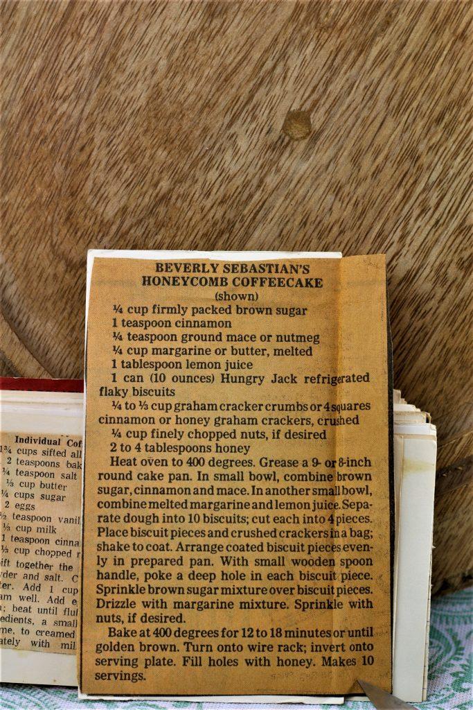 Beverly Sebastian's Honeycomb Coffee Cake