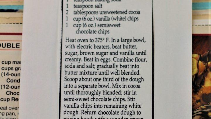 Marbeled Chocolate Chip Cookies