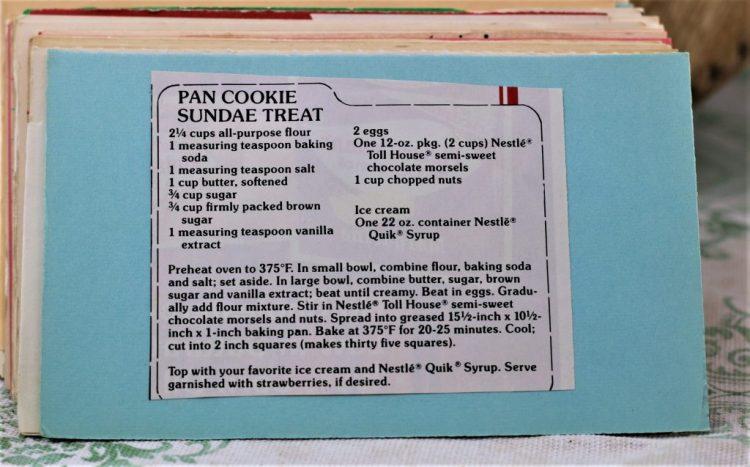 Pan Cookie Sundae Treat