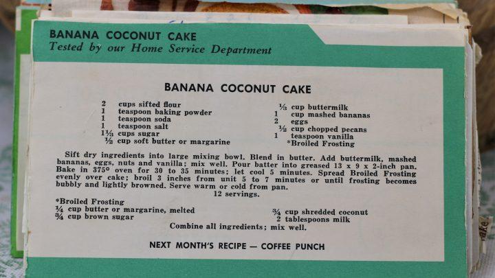 Banana Coconut Cake e1544639690630