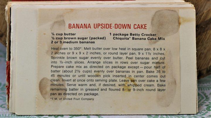 Banana Upside Down Cake e1543795822690