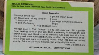 Blond Brownies Recipe