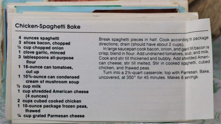 Chicken Spaghetti Bake e1544641226462