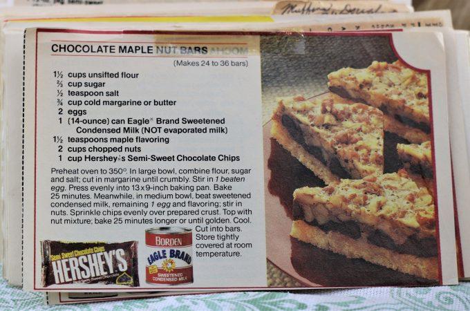 Chocolate Maple Nut Bars
