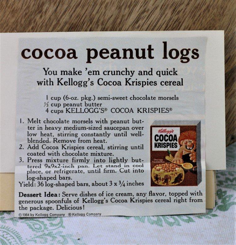 Cocoa Peanut Log