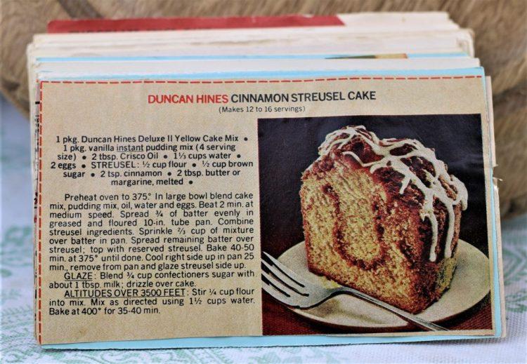 Duncan Hines Cinnamon Struesel Cake