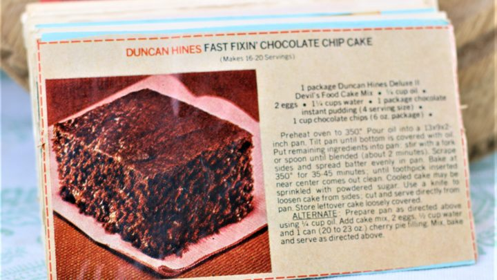 Duncan Hines Fast Fixin Chocolate Chip Cake e1544127195644
