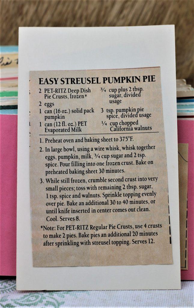 Easy Struesel Pumpkin Pie