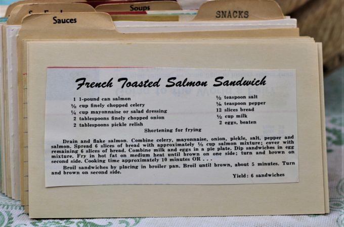 French Toasted Salmon Sandwich