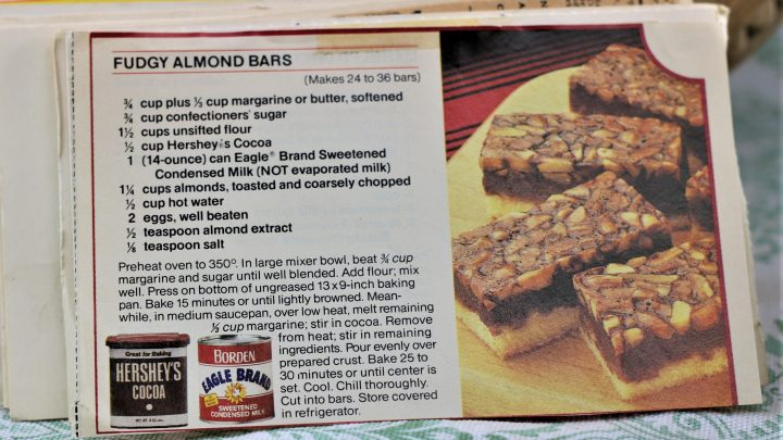 Fudgy Almond Bars e1544641815288