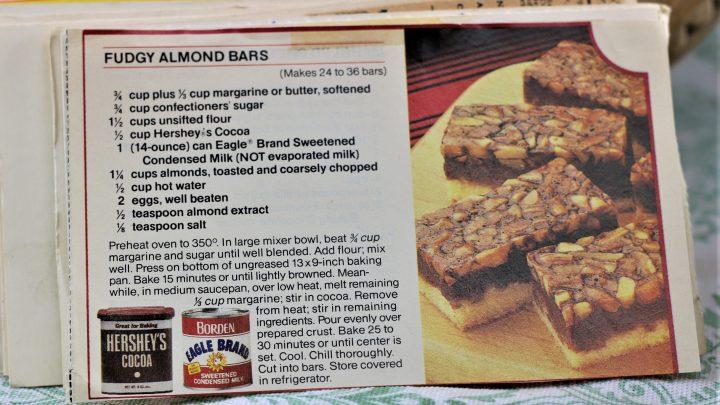Fudgy Almond Bars