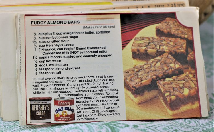 Fudgy Almond Bars