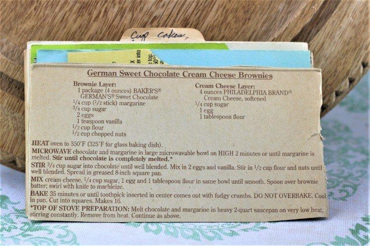 German Sweet Chocolate Cream Cheese Brownies
