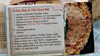 Holiday Ham and Chili Cheese Ball