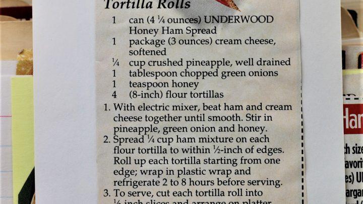Honey Ham Tortilla Rolls