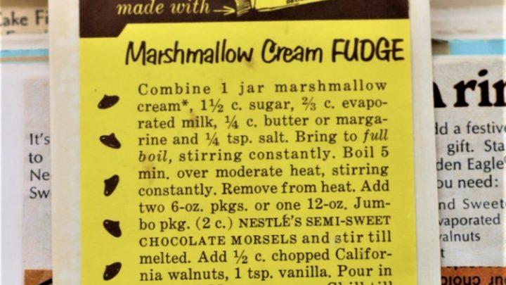 Marshmallow Cream Fudge