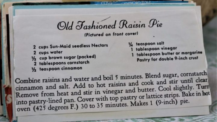 Old Fashioned Raisin Pie e1544303031867