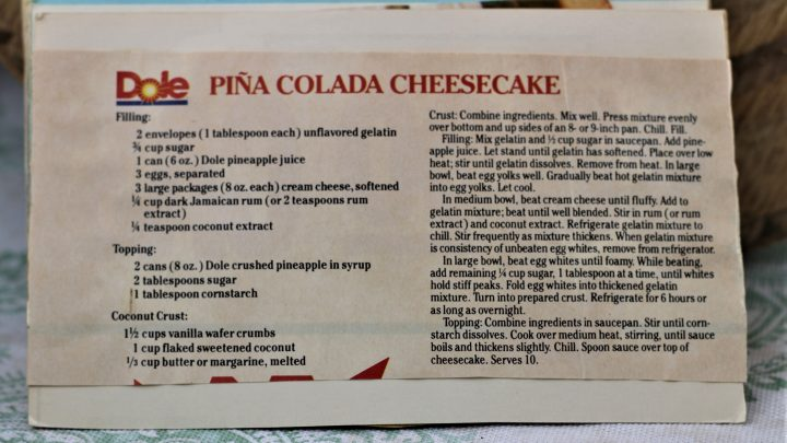 Pina Colada Cheesecake e1544126534668