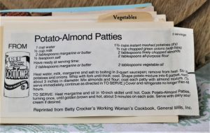 Potato Almond Patties